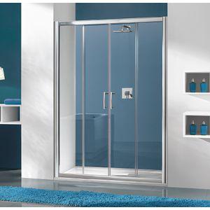 Wersja drzwi prysznicowych w kolorze srebnym matowym z wypełnieniem W0