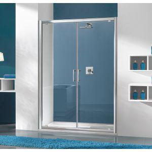 Wersja kabiny prysznicowej w kolorze srebrny matowy z wypełnieniem W0