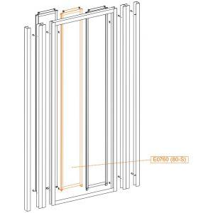 Element ruchomy środ-szkło hartowane