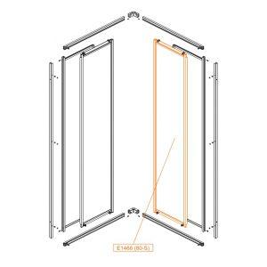Element ruchomy prosty-lewy-szkło hartowane