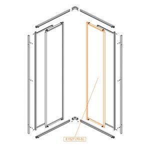 Element ruchomy prosty-szkło hartowane L