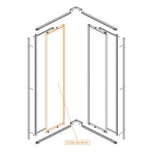 Element ruchomy prosty-prawy-szkło hartowane