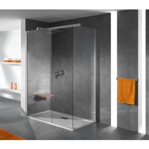 Wersja kabiny prysznicowej w kolorze srebrnym matowym z wypełnieniem W0