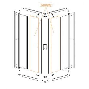 Szyba drzwi-szkło hartowane