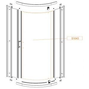 Szyba gięta drzwi-szkło hartowane