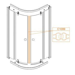 Uszczelka magnetyczna drzwi-komplet