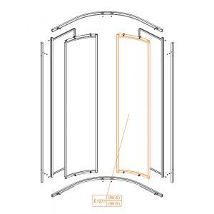 Element ruchomy-szkło hartowane