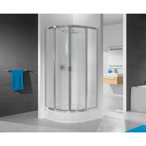 Wersja kabiny prysznicowej w kolorze srebrnym błyszczącym z sitodrukiem W11