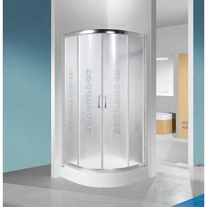 Wersja kabiny prysznicowej w kolorze srebrnym błyszczącym z sitodrukiem W14