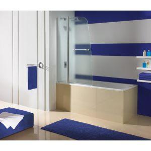 Wersja kabiny prysznicowej w kolorze srebrny błyszczący z wypełnieniem MC Master Carre
