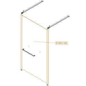 Element stały prosty-szkło hartowane