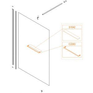 Szyba półki - szkło hartowane