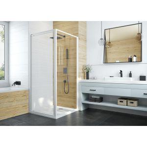 Ścianka boczna do tworzenia kabin prysznicowych narożnych Basic ze szkłem transparentnym W0