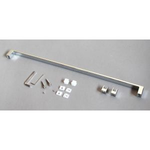 Towel rail with shelf fixing element - distance between holes 500
