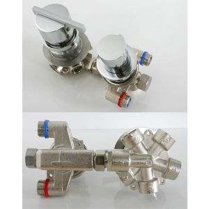 Thermostat mixer with five-ways valve