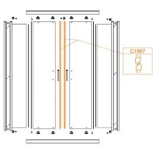 Uszczelka magnetyczna drzwi-komplet (2 szt)