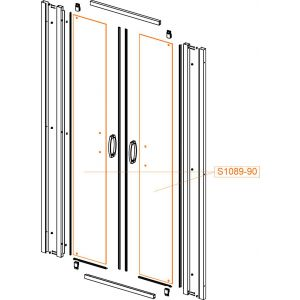 Door glass - safety glass sheet