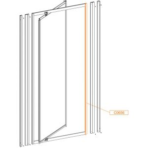 Frame vertical profile-zamyk wys. 1850mm