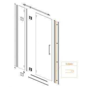 Vertical aluminium profile