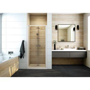 Drzwi prysznicowe skrzydłowe ze szkłem transparentnym W0