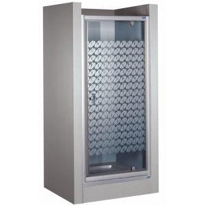 Wersja drzwi prysznicowych w kolorze srebrnym matowym
