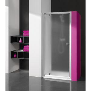 Wersja kabiny prysznicowej w kolorze srebrnym matowym z wypełnieniem SA satynowana