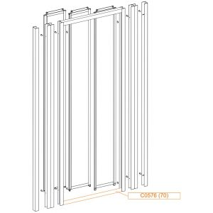 Bent frame horizontal profile