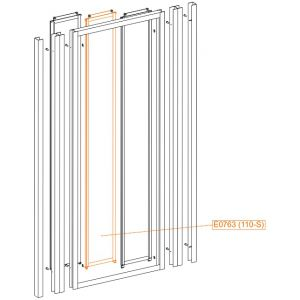 Middle moveable element - safety glass sheet