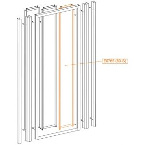Internal moveable element - safety glass sheet