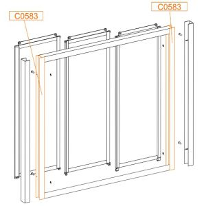 Frame vertical profile wys. 1400mm