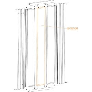 Moveable element - safety glass sheet