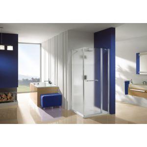 Wersja kabiny prysznicowej w kolorze srebrnym błyszczącym z wypełnieniem MC Master Carre