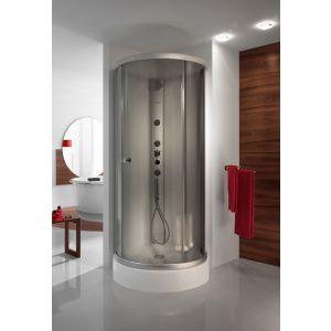 Wersja kabiny prysznicowej w kolorze srebrnym matowym z wypełnieniem GR Graphit