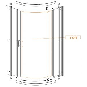 Door bent glass - safety glass sheet