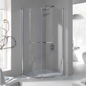 Wersja kabiny prysznicowej w kolorze srebrny błyszczący