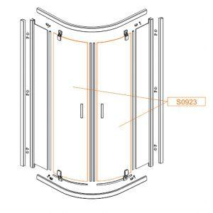 Szyba drzwi -szkło hartowane