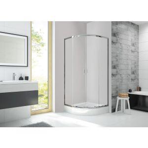 Wersja kabiny prysznicowej w kolorze srebrnym błyszczącym