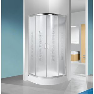 Wersja kabiny prysznicowej w kolorze srebrny błyszczący z sitodrukiem W14