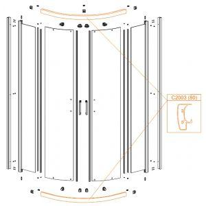Aluminium bearing profile
