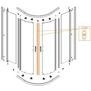 Door magnetic seal - a set