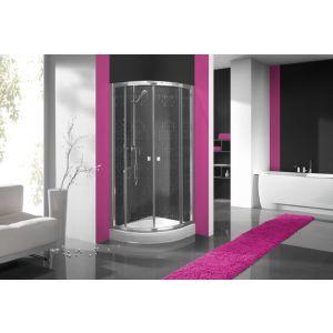 Wersja kabiny prysznicowej w kolorze srebrnym błyszczącym z sitodrukiem W12