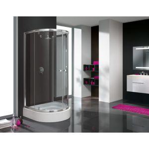 Wersja kabiny prysznicowej w kolorze srebrnym błyszczącym z wypełnieniem GY Grey