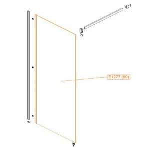 Fixed element - safety glass sheet