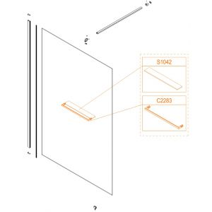 Shelf glass - safety glass sheet