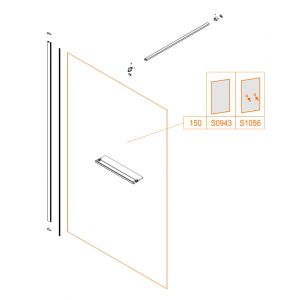 Fixed wall - safety glass sheet