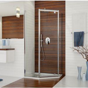 Wersja kabiny prysznicowej w kolorze srebrnym błyszczącym z wypełnieniem W0