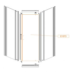 Moveable straight element - safety glass sheet