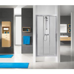 Wersja drzwi prysznicowych w kolorze srebrnym matowym z wypełnieniem W0