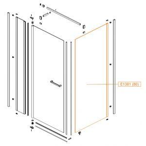 Element stały-szkło hartowane