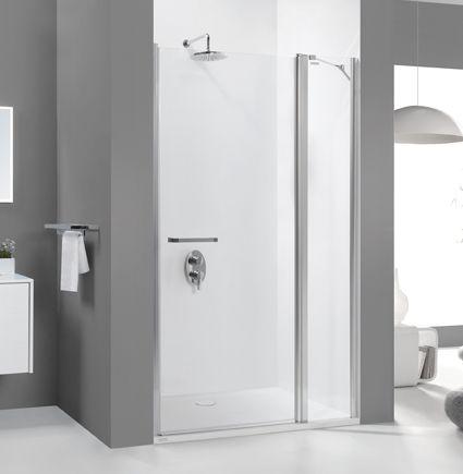 Wersja kabiny prysznicowej w kolorze srebrny błyszczący z wypełnieniem W0